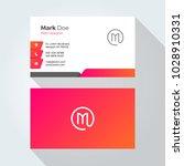 m letter modern minimal... | Shutterstock .eps vector #1028910331