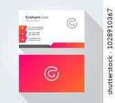 g letter modern minimal... | Shutterstock .eps vector #1028910367
