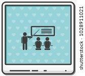 training seminar flat vector... | Shutterstock .eps vector #1028911021