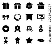 solid vector icon set   gift... | Shutterstock .eps vector #1028913277