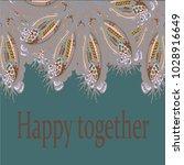 abstract zentangle inspired art ... | Shutterstock .eps vector #1028916649