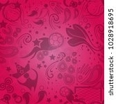 seamless russian pattern with... | Shutterstock .eps vector #1028918695