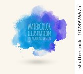 blue watercolor hand drawn... | Shutterstock .eps vector #1028926675