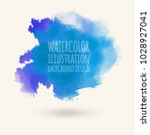 blue watercolor hand drawn... | Shutterstock .eps vector #1028927041
