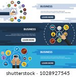 business flat icon concept.... | Shutterstock .eps vector #1028927545