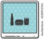 hamburger flat vector icon....