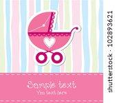 baby girl birthday card | Shutterstock .eps vector #102893621