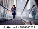 beautiful hipster woman... | Shutterstock . vector #1028940985