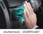 driver checking flow of cold... | Shutterstock . vector #1028941687