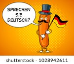 bavarian sausage with germany...   Shutterstock .eps vector #1028942611