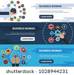 business woman flat icon... | Shutterstock .eps vector #1028944231