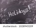 the words holidays on a... | Shutterstock . vector #1028945209
