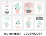 set of 8 cute ready to use gift ... | Shutterstock .eps vector #1028953099