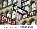 Road Signs In Manhattan  New...