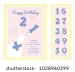 birthday party invitation card  ... | Shutterstock .eps vector #1028960299