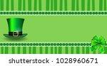 saint patrick's day template... | Shutterstock .eps vector #1028960671