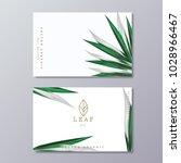 green botany business card... | Shutterstock .eps vector #1028966467