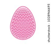 decorative easter egg zig zag...