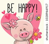 be happy greeting card with... | Shutterstock .eps vector #1028966917