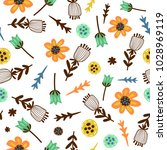 floral seamless pattern with... | Shutterstock .eps vector #1028969119