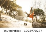 urban athlete breakdancer... | Shutterstock . vector #1028970277