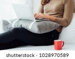 asian business woman working... | Shutterstock . vector #1028970589