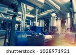 industrial steel pipelines ... | Shutterstock . vector #1028971921