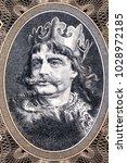 boleslaw i the brave portrait... | Shutterstock . vector #1028972185