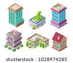 isometric residential buildings ... | Shutterstock .eps vector #1028974285