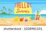 vector cartoon style hello... | Shutterstock .eps vector #1028981101