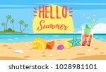 vector cartoon style hello... | Shutterstock .eps vector #1028981101