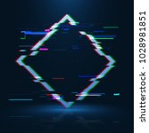 geometrical glitched banner .... | Shutterstock .eps vector #1028981851