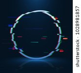 geometrical glitched banner .... | Shutterstock .eps vector #1028981857