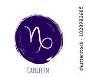 violet round capricorn zodiac... | Shutterstock .eps vector #1028982685
