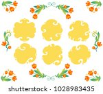 vector floral frames with... | Shutterstock .eps vector #1028983435