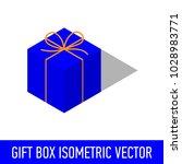 isometric isolated gift present ... | Shutterstock .eps vector #1028983771