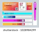 event entrance ticket  badge... | Shutterstock .eps vector #1028984299
