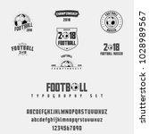set of football  soccer   ... | Shutterstock .eps vector #1028989567