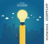 businessmen are climbing coins... | Shutterstock .eps vector #1028991349