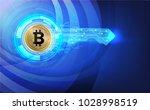 abstract technology bitcoin...   Shutterstock .eps vector #1028998519