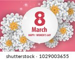 happy mother's day.floral... | Shutterstock .eps vector #1029003655