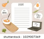 hand drawn vector abstract... | Shutterstock .eps vector #1029007369