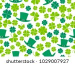 patrick's day  seamless pattern ... | Shutterstock .eps vector #1029007927