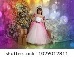 young princess in white with... | Shutterstock . vector #1029012811