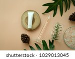 natural organic cosmetic... | Shutterstock . vector #1029013045