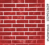 red brick wall background...   Shutterstock . vector #1029013639