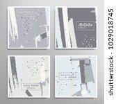 creative artistic backgrounds... | Shutterstock .eps vector #1029018745