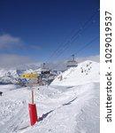 chatel  france  feb 13 2018  ... | Shutterstock . vector #1029019537