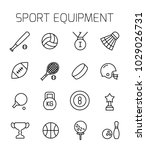 sport equipment related vector... | Shutterstock .eps vector #1029026731
