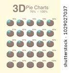 pie charts 3d 76 100 | Shutterstock .eps vector #1029027037